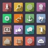 Search engine optimization icon set Royalty Free Stock Photo
