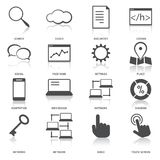 Search Engine Optimization Icons Set Royalty Free Stock Photography