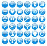 Search Engine Optimization Icons Set Royalty Free Stock Images