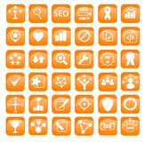Search Engine Optimization Icons Set Royalty Free Stock Photo