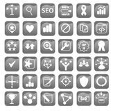 Search Engine Optimization Icons for Web Design Stock Images