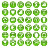 Search Engine Optimization Icons for Web Design Royalty Free Stock Photography