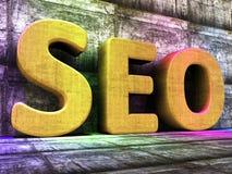 Search Engine Optimization Indicates Gathering Data And Optimize Royalty Free Stock Photography