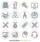 Search engine optimization line icons set Stock Images