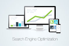 Search engine optimization marketing analysis vect Stock Photo