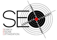 Search Engine Optimization poster. SEO - Search Engine Optimization poster for your web Royalty Free Stock Photography