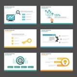 Search engine optimization presentation templates Infographic elements flat design set for brochure flyer leaflet Stock Photo