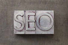 Search engine optimization) -SEO. SEO (search engine optimization) acronym - text in vintage letterpress metal type against a grunge steel sheet stock images