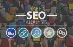 Search Engine Optimization SEO Information Internet Concept Royalty Free Stock Photography