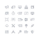 Search engine optimization, seo service vector line icons set Stock Images