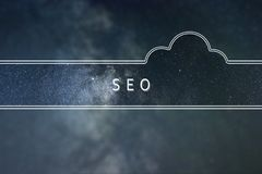 Search engine optimization SEO word cloud Concept. Space. Background stock photo