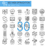 Search engine optimization , thin line icons set Royalty Free Stock Images