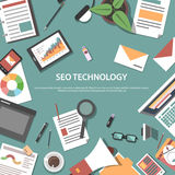Search engine optimization web concept Royalty Free Stock Photography
