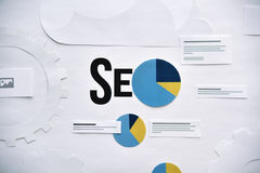 Search engine optimization website banner concept Royalty Free Stock Image