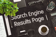 Search Engine Results Page Concept. 3D render. Royalty Free Stock Photos
