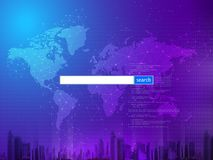 Search engine, search engine optimization, web design, abstract background with search bar vector illustration