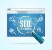 Search Engine Seo Concept de la página web Vector Fotos de archivo