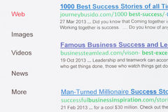 Search engine on Success Stock Image