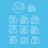 Search engine - vector seo doodle concept Stock Images