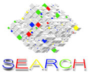 Search Engines on Internet vector illustration