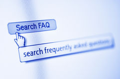 Search FAQ button Stock Images