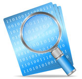 Search File. Illustration of search file icon Royalty Free Stock Image