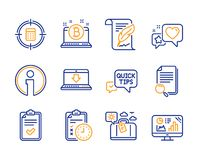 Search file, Exam time and Travel luggage icons set. Feather, Info and Internet downloading signs. Vector. Search file, Exam time and Travel luggage icons simple stock illustration