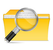 Search file icon. On white background Stock Image