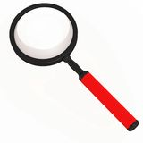 Magnifying glass lens. Looking concept, isolated object on white, zoom and magnify use royalty free illustration