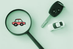 Search or find car , rent and leasing car concept Royalty Free Stock Photo