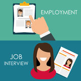 Search and find employment. Graphic theme design, vector illustration Stock Photography