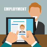 Search and find employment. Graphic theme design, vector illustration vector illustration