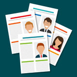 Search and find employment. Graphic theme design, vector illustration Royalty Free Stock Photos