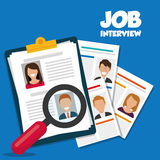 Search and find employment. Graphic theme design, vector illustration Stock Photos