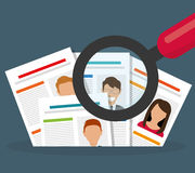 Search and find employment. Graphic theme design, vector illustration Stock Images
