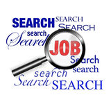 Search find job magnify glass. An image for the concept of search and find using the internet and world wide web search job engines to find the documents you Royalty Free Stock Photos