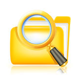Search folder. Computer illustration, isolated on white Stock Photos