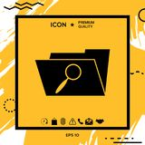 Search folder icon. Element for your design Stock Photography