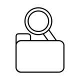 Search folder web technology find line. Illustration eps 10 Royalty Free Stock Photos