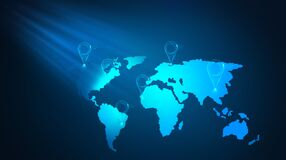 Free Search For Locations Around The World. Location Map Concept Royalty Free Stock Images - 176436759