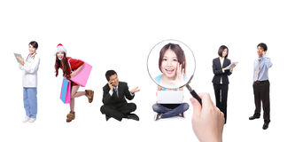 Search friends by social network Stock Photography
