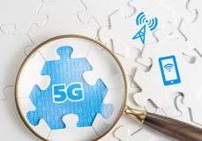 Search For 5G Networks. 3D rendering graphic composition on the subject of `Wireless Technologies / Mobile Networks royalty free stock photo