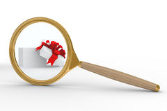 Search of gifts. Isolated 3D image Stock Photography