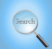 Search glass Stock Image