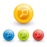 Search glossy icon Stock Images