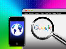Search Google Network from your mobile Stock Photo