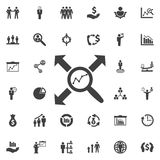 Search graph icon. vector illustration