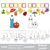 Search the hidden word, the simple educational kid game. Royalty Free Stock Images