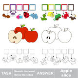 Search the hidden word, the simple educational kid game. Stock Images