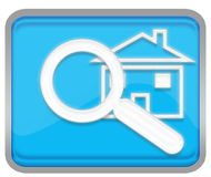 Search Home button Stock Photography